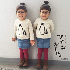 日本4岁双胞胎姐妹走红网络